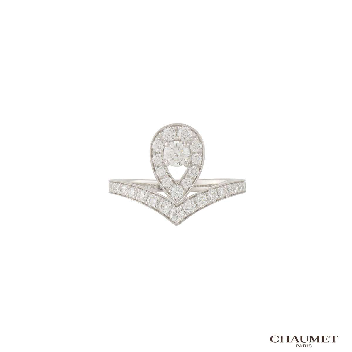 Chaumet White Gold Diamond Josephine Aigrette Ring 081990